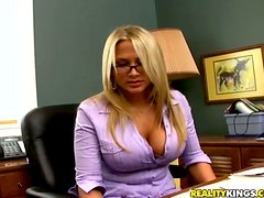 Banging The Hugely Breasted Blonde Boss Alanah Rae in Her Office