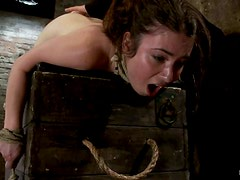 Serena Blair Gets Tied in an Exposed Way for a Throat Fuck