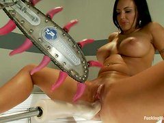 Busty Jenna Presley gets stuffed with different machines