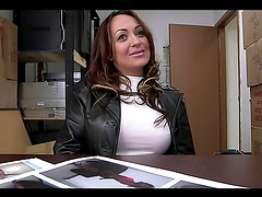 Busty milf's fucked by a big cock in a backroom