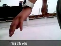 black couple fucking on the roof
