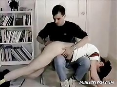 Retro Gay Twink Ass Spanking
