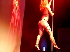 Western Burlesque Striptease by Tall Anglo-Nordic Blonde