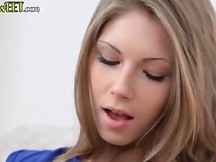 Black stockings and shaved vagina