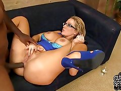 HOT wife Nikki ass fucked by black in front of cuckold