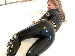 police catsuit girl