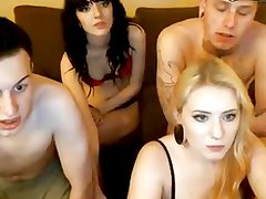 2 Hot Guys With Nice Cocks Give Blowjob At Their Girlfriends
