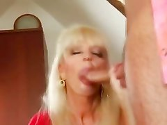 Hot Mature Blonde Cougar Banging In Boots