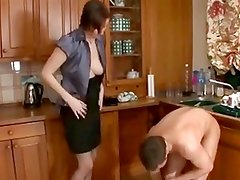 Papa - Sexy milf and young man fuck