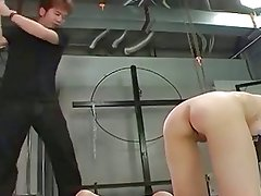 Male dom spanking and hot wax