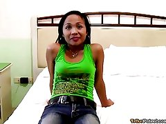 Very Petite Filipina has pussy plowed by foreign tourist
