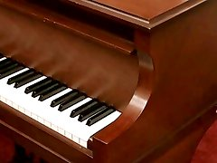 Latin Teen Masturbating on a Piano