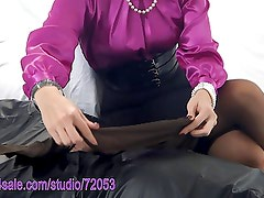 Pantyhose Tease and Denial