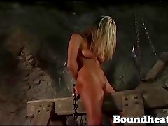 Beautiful teen chained, punished and branded by her mistress