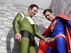 Superman Submits Part 1 GAY BALLBUSTING SPANDEX CHASTITY
