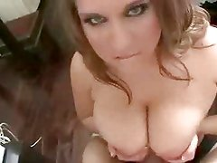 Big Tits Make Guy Cum