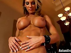 Aziani Iron Abby Marie elegant fitness model gets naked