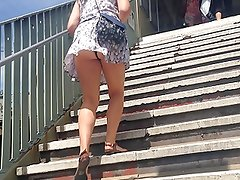 Stair Upskirt (train station)