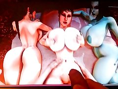 3d game girls jeezed