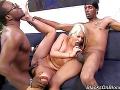 PAWG fucked by two blacks for the first time