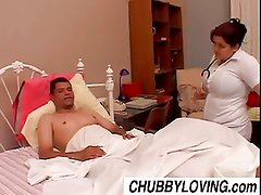 Bubbly big tits BBW babe Karla is a naughty nurse