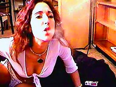 She smokes for the camera