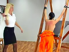 Whipping punishment for female prisoner