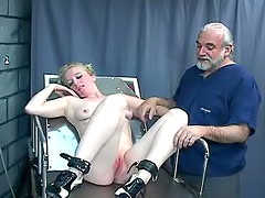 Old man fucks cute blonde hard