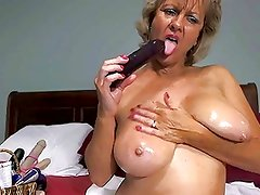 Solo #17 (Hot Blonde Granny Toying Around!)