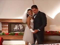 Brazilian Bride Wedding Night Fuck