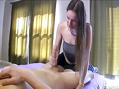 Sexy Teen Jacking Off A Naked Dude