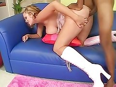 Katie Kox sexy pink boots and huge BBC