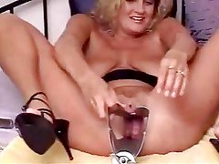 Bizarre Samantha dildo insertion pussy play 2