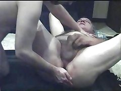 Giving grandpa the dildo before he gets the real thing