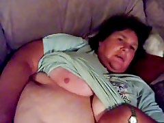 Granny rubbing her old cunt