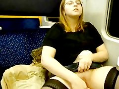 Solo Masturbation Series Amateur On a Train