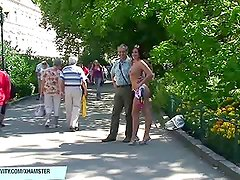 Horny chick valerie nude on the road