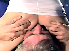 Kinky interracial dungeon threesome
