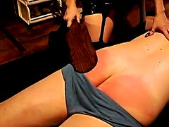 Ass spanked and CBT