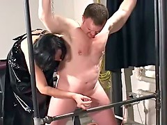 Chubby guys bound and abused