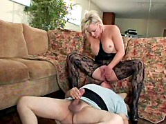 Busty goddess sits on his face