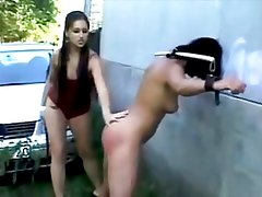 She Spanks Her Hot Friend Outside!!!!!!!