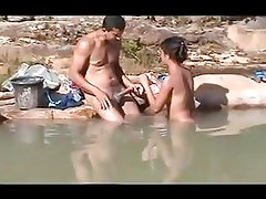 Amateur outdoor sex at sea