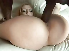 A shaved german pussy for a big black cock