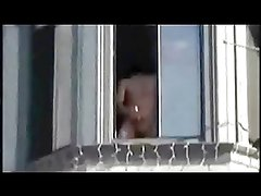 Jerking at the window & the whole neighbourhood loves it!