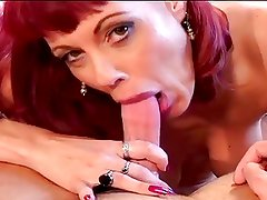 Redhead MILF in stockings and young guy. No anal.