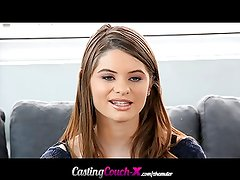 CastingCouch-X 18yo coed shoots first porn video