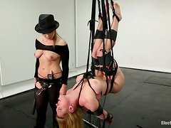 Hot Darling gets wired and suspended by Lea Lexis