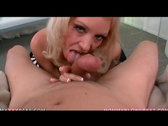 Big breasts blonde Charlee Chase pleasures cock