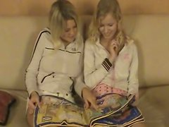 Playful blonde girls with natural tits having sweet time